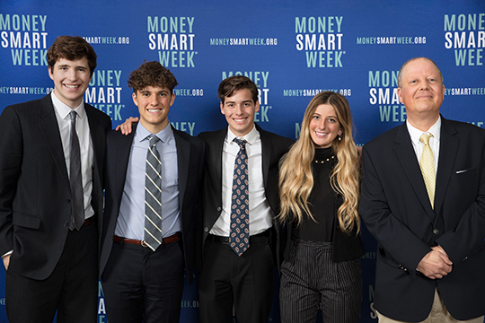 The 2019 Midwest High School Fed Challenge winners, from the University School of Milwaukee.