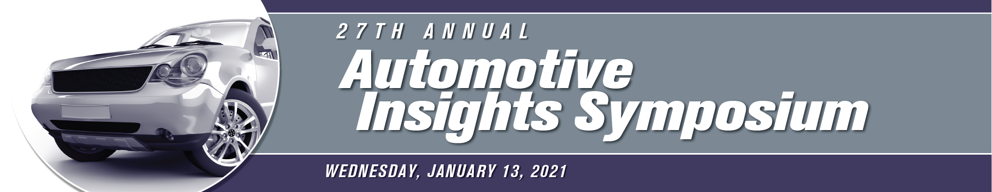 Banner image for the 2021 Automotive Insights Symposium