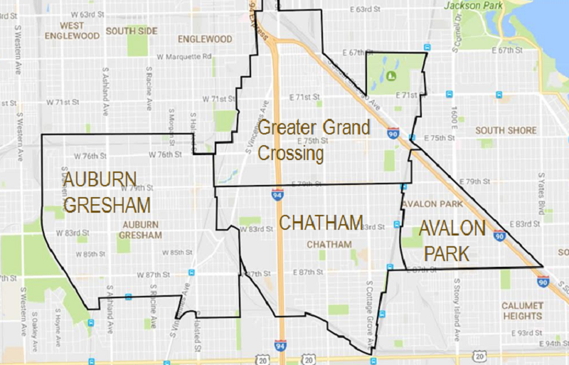 Figure 1. Map of Greater Chatham area