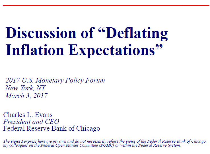 cover of dscussion of deflating inflation expections