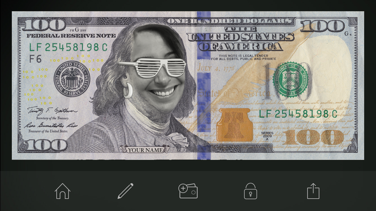 currency phot with glasses image